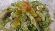 AVOCADO WITH ORANGE  AND SALMON