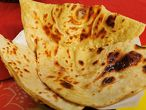 BUTTER ROTI flatbread roasted on iron griddle with butter