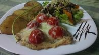 Chicken with basil and scamorza 