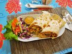 DHUMRE KATHI ROLL MASU special roll with meat and potatos in Nepali style