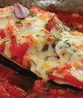 Патладжан по Неаполитански (патладжан пълнен с доматен сос, подправки и скариди, запечен с кашкавал)