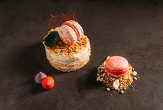 FRENCH RUSTIC CAKE - served with raspberry macaron