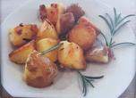 Картофи с розмарин и чесън на тиган