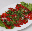 Roasted red peppers with marinada   