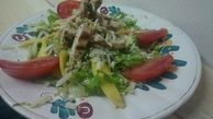 SALAD WITH CHICKEN, PARMESAN AND MANGO