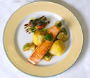 Salmon fillet with lemon ragout