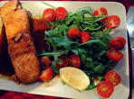 Salmon with honey,